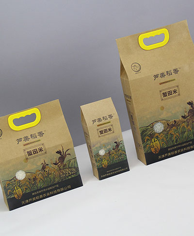 rice packaging paper bag supplier